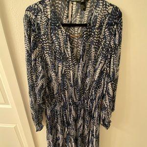 H&M long sleeve chiffon dress